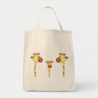 Famille des girafes. Bande dessinée Sacs En Toile