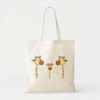 Famille des girafes. Bande dessinée Sac En Toile