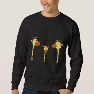 Famille des girafes. Bande dessinée Sweatshirts