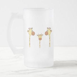 Famille des girafes. Bande dessinée Mugs