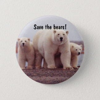 Famille d'ours blanc badge