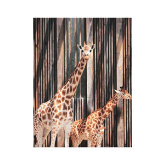 Famille Girafe Toile