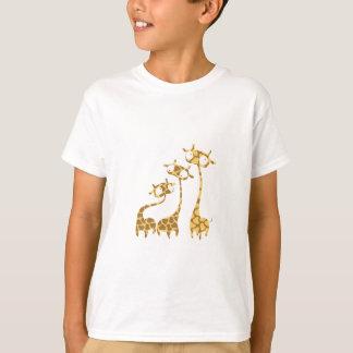 Famille mignonne de girafe - animaux de la savane t-shirt