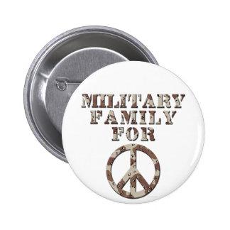 Famille militaire pour la paix badge rond 5 cm