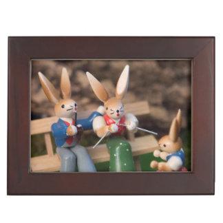 Famille Pâques de lapin Boîtes À Souvenirs