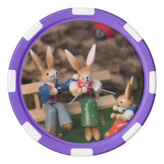 Famille Pâques de lapin Rouleau De Jetons De Poker