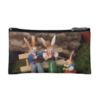 Famille Pâques de lapin Trousse De Maquillage