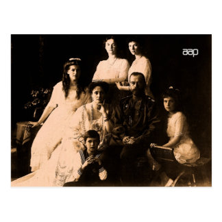 Famille royale russe 1914 carte postale