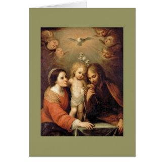 Famille sainte avec des anges par Gutiérrez Cartes