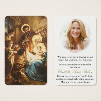 Famille sainte funèbre 6 de la carte   de prière
