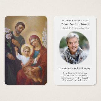 Famille sainte funèbre 7 de la carte   de prière