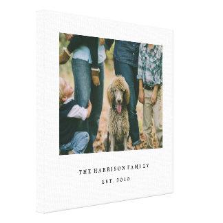 Famille simple toiles tendues sur châssis