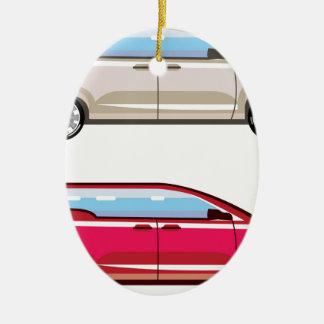Family Van Vector stylisée Ornement Ovale En Céramique