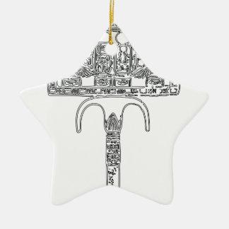 Fan de contour de Tutenkhamun Ornement Étoile En Céramique
