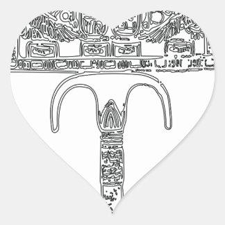 Fan de contour de Tutenkhamun Sticker Cœur