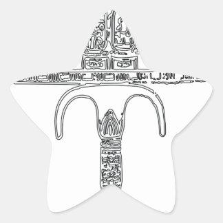 Fan de contour de Tutenkhamun Sticker Étoile