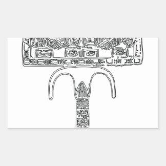 Fan de contour de Tutenkhamun Sticker Rectangulaire