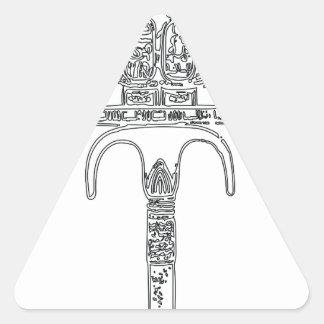 Fan de contour de Tutenkhamun Sticker Triangulaire
