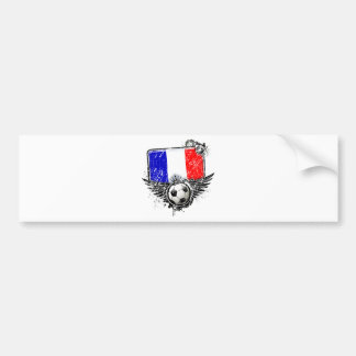 Fan de foot France Autocollant Pour Voiture