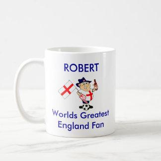 Fan de foot personnalisable de l'Angleterre Mug