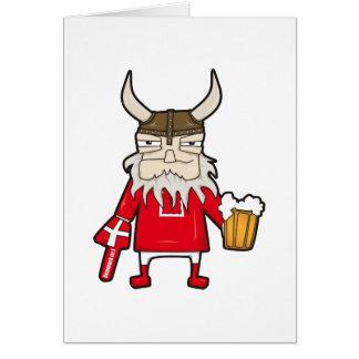 Fan de Viking du danois Carte De Vœux