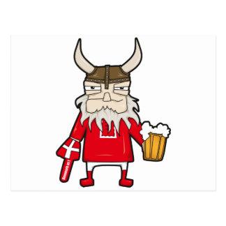 Fan de Viking du danois Carte Postale
