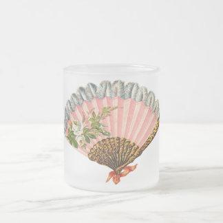 Fan florale vintage tasse