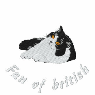 Fan of british longhair, broderie