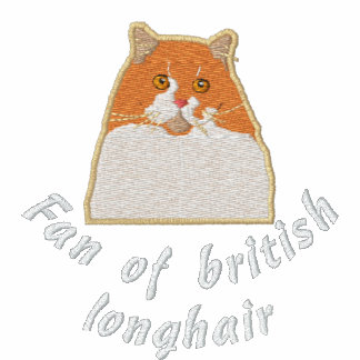 Fan of british longhair veste track molletonnée brodée