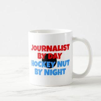 Fanatique d'hockey de journaliste mug