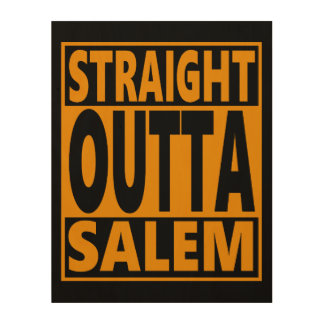 Fanatique droit d'Outta Salem Halloween Impression Sur Bois