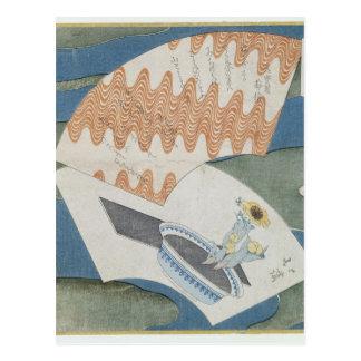 Fans flottant sur un courant carte postale