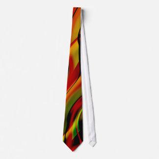 Fantaisie avec l'art fin rouge de fractale cravates