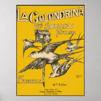 Fantaisie d'hirondelle de Golondrina de La - Affiches