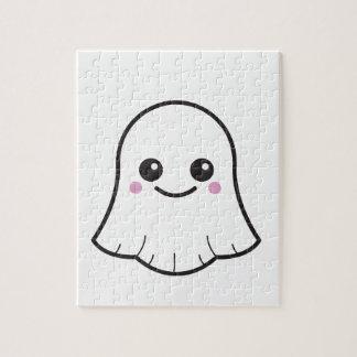 Fantôme de blanc de Kawaii Puzzles