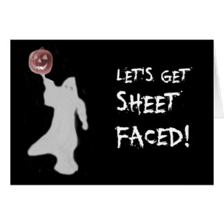 Fantôme drôle Jack-o'-lantern Halloween Carte De Vœux
