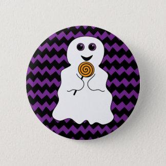 Fantôme éffrayant de Halloween avec la lucette Badge