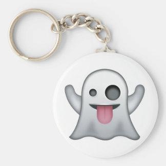 Fantôme Emoji Porte-clé Rond