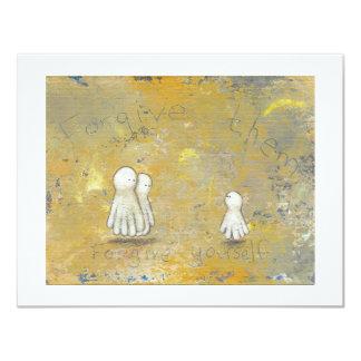 Fantômes curatifs de récupération de rémission carton d'invitation 10,79 cm x 13,97 cm