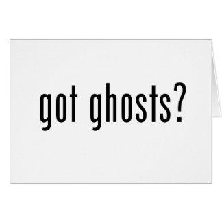 Fantômes obtenus ? carte de vœux