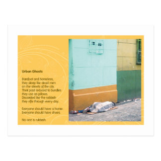 Fantômes urbains carte postale