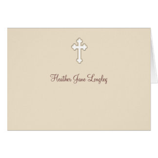 Faon - carte pour notes religieux personnalisé de