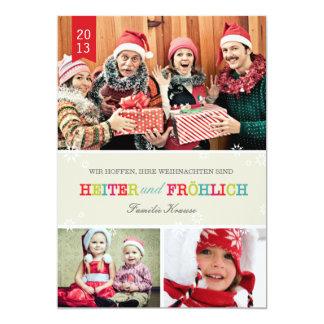 Farbenreich Foto Weihnachtskarte Carton D'invitation 12,7 Cm X 17,78 Cm