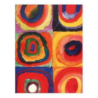 Farbstudie Quadrate - art coloré Carte Postale