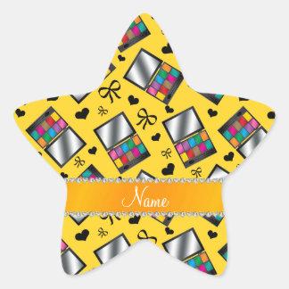 Fard à paupières jaune nommé personnalisé sticker étoile