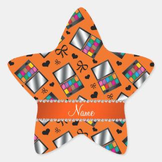 Fard à paupières orange nommé personnalisé sticker étoile