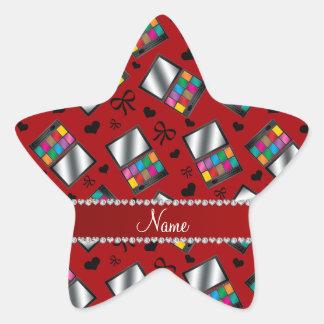 Fard à paupières rouge nommé personnalisé sticker étoile