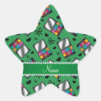 Fard à paupières vert nommé personnalisé sticker étoile