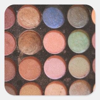 Fards à paupières colorés stickers carrés
