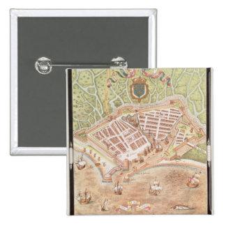 Fascimile d'un plan du Havre Badge Avec Épingle